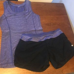Lululemon Shorts and Tank Top (matching outfit)